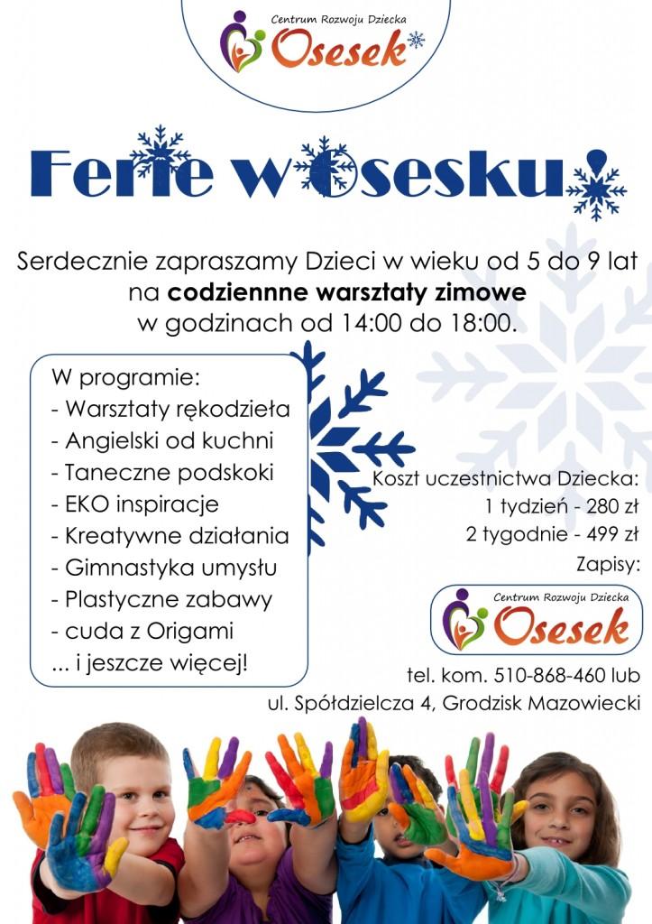 plakat - Ferie w Osesku 2015